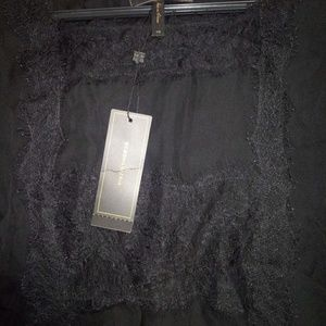 Silk embroidery lace front bcbg shirt
